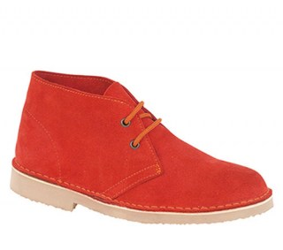 Roamers Desert Ankle Boots Red